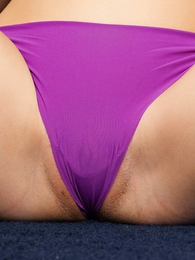 Undies gals - Lacey purple panties