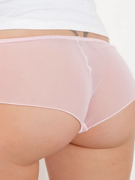 Panty pictures - Lacey pink sheer lace In US breeks