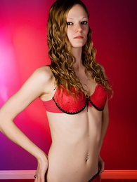 Panty galleries - Lacey red lace old crumpet shorts