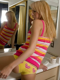 Panty pics - Kayden Love intimidated cotton panties in chum around with annoy bathroom