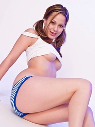 Teen in panties pics - Daisy cotton striped bloomers
