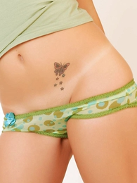 Girl in panties photo - Daisy sheer unfledged panties