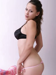 Girl in panties photo - Dilly you wish pink sheer panties