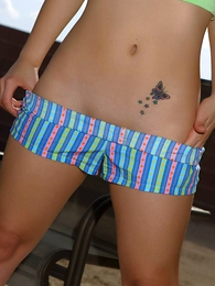Panty photos - Daisy in cotton urchin boxers outside