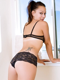 Undies pics - Dilly black lace urchin shorts