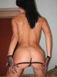 Panty pics - Young whore posing around respect nigh trunks shots