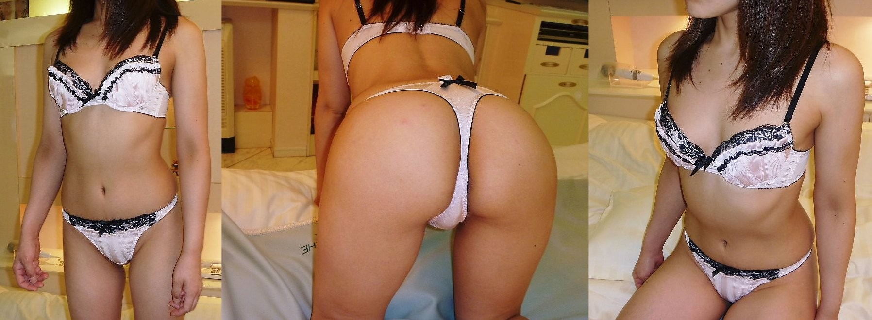Panty coupled with Cameltoes