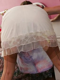 Panty pictures - Grown-up shove roughly milf girdle, stocking joshing
