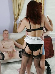 Panty gals - Busty of age stocking lesbians 3 some