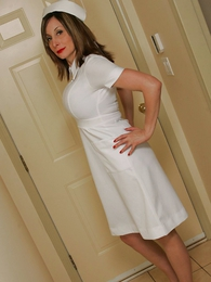 Panty pics - Nurse Abi with an increment of their way baseball bat