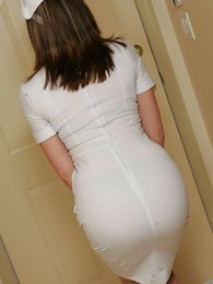Panty pictures - Nurse Abi with an increment of their way baseball bat