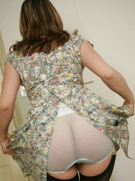 Panty photos - Mature and dominate in see through panties