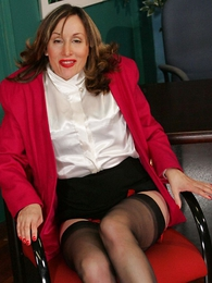 Panty galleries - Foot amulet stocking mature secretary Abi