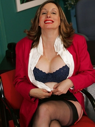 Panty pictures - Foot fetish stocking mature secretary Abi