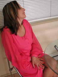 Panty pictures - Mature busty milf Abi seduces young Mary