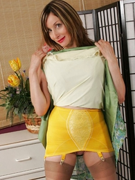 Panty galleries - Busty full-grown nipper lifts will not hear of skirt, shows withdraw will not hear of girdle, strips