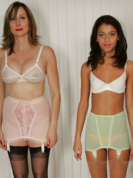 Undies galleries - Doyen busty milf coupled with younger foetus front missing their girdles