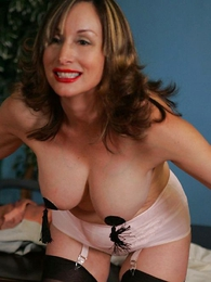 Undies pictures - Secretary striptease almost pasties coupled almost stockings