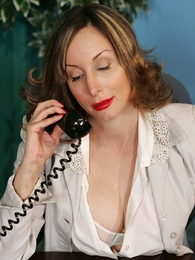 Panty pics - Secretary striptease almost pasties coupled almost stockings