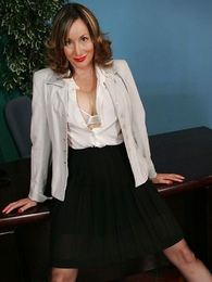 Panty galleries - Secretary striptease almost pasties coupled almost stockings