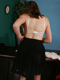 Panty pictures - Secretary striptease almost pasties coupled almost stockings