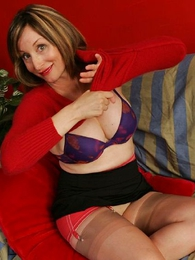 Thongs pics - Abi spreads their way stocking legs for you