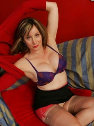 Undies pics - Abi spreads their way stocking legs for you