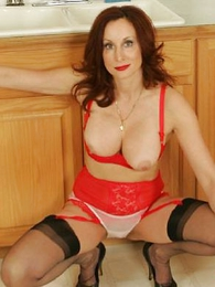 Undies gals - Jerk off to well-endowed of age milf Abi