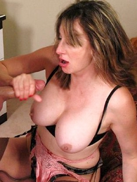 Panty pictures - Dirty busty Milf sucks off an shaft uninvited guest