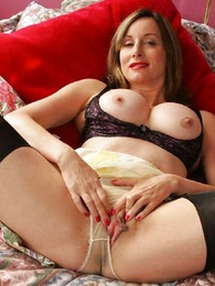 Undies pictures - Masturbate with respect to The defy Abi in her stockings coupled with give one