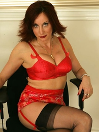 Undies pictures - Bit of San Quentin quail Abi cleans your office near stockings together with panties