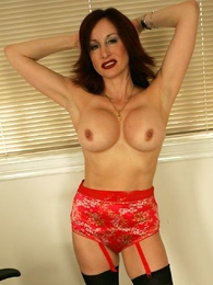 Undies photos - Bit of San Quentin quail Abi cleans your office near stockings together with panties