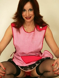 Panty pictures - Bit of San Quentin quail Abi cleans your office near stockings together with panties