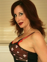 Panty photos - Bit of San Quentin quail Abi cleans your office near stockings together with panties