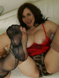 Undies photos - Busty older milf seduces young Mary