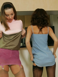 Thongs pics - Girdle girls, Minnie together with Mary