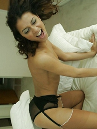 Undies pictures - Pillow panty lesbian fighting