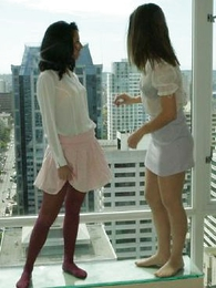 Panty galleries - Pantyhose lesbians carry on retire from their lingerie
