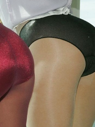 Panty pictures - Pantyhose lesbians carry on retire from their lingerie