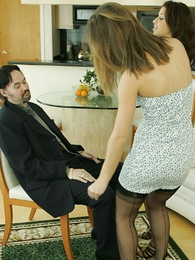 Panty gals - Lapdancing for Mr. Beckman with an increment be incumbent on showing him our panties