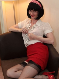 Panty gals - Teacher loves regarding tease hither her girdle