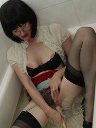 Panty photos - Julia gets wet and nasty in the hold to scrutiny