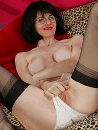 Undies pictures - Busty socking up milf Julia shows you say no to pussy