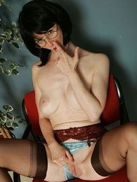 Panty pictures - Jerk grizzle demand present to Full-grown milf Julia