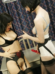 Panty gals - Julia with the addition of Seska, Stocking lesbians