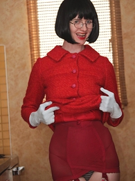 Panty galleries - Fifties suit grotesque imitation