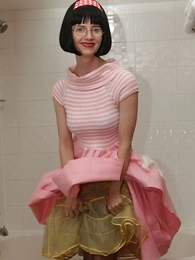 Panty galleries - Poodle skirt bathroom battle-axe