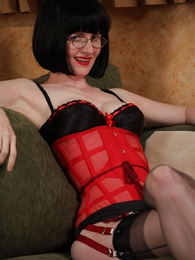 Undies pics - Corsetted secretary strips for you