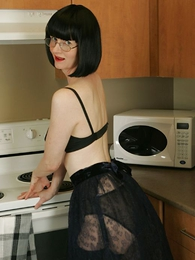 Panty galleries - See through skirt, unscrupulous huff and puff and unscrupulous stockings
