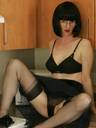 Thongs pics - See through skirt, unscrupulous huff and puff and unscrupulous stockings